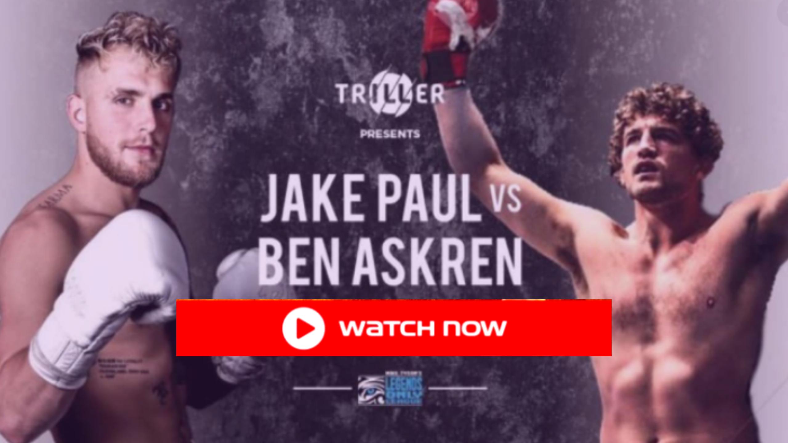 live-tv=Jake Paul vs Ben Askren Live Stream free HD